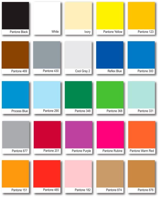 La paleta de colores Pantone.
